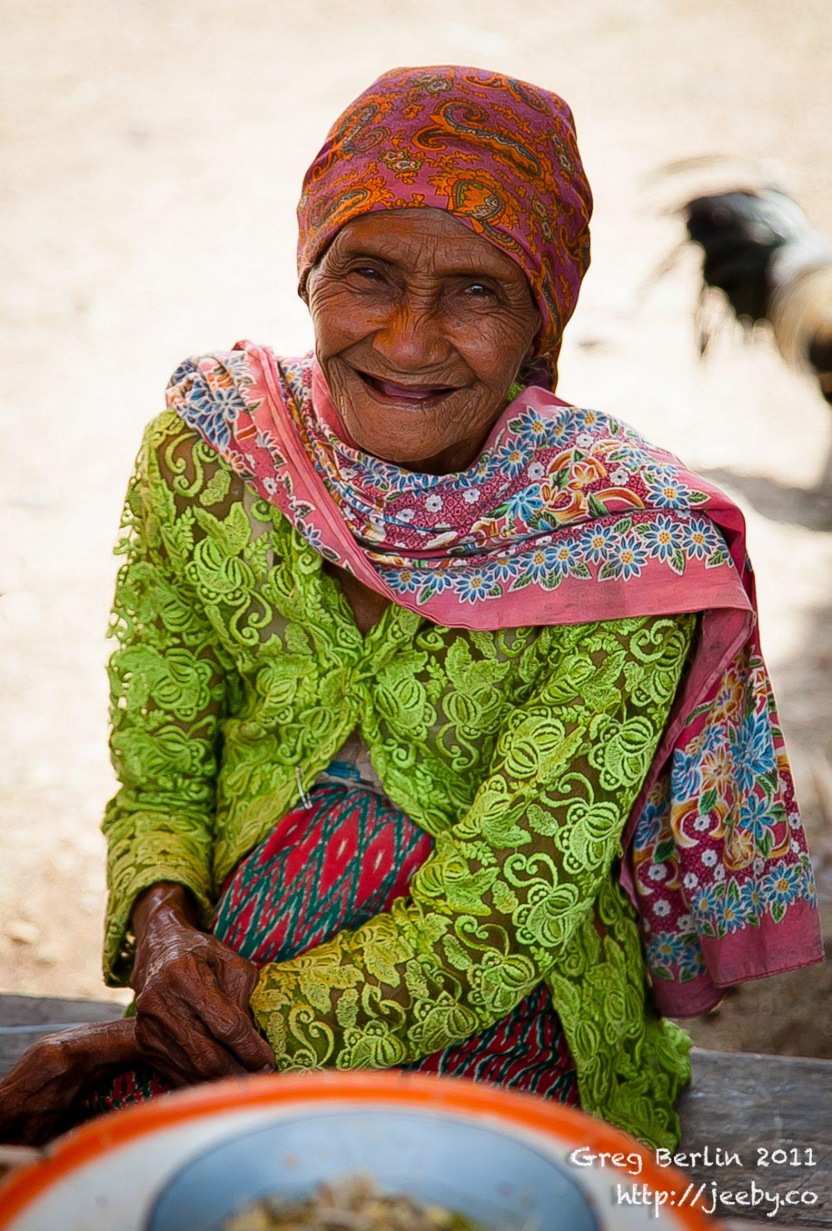 Ancient Market lady, Sekotong Barat, Lombok, Indonesia