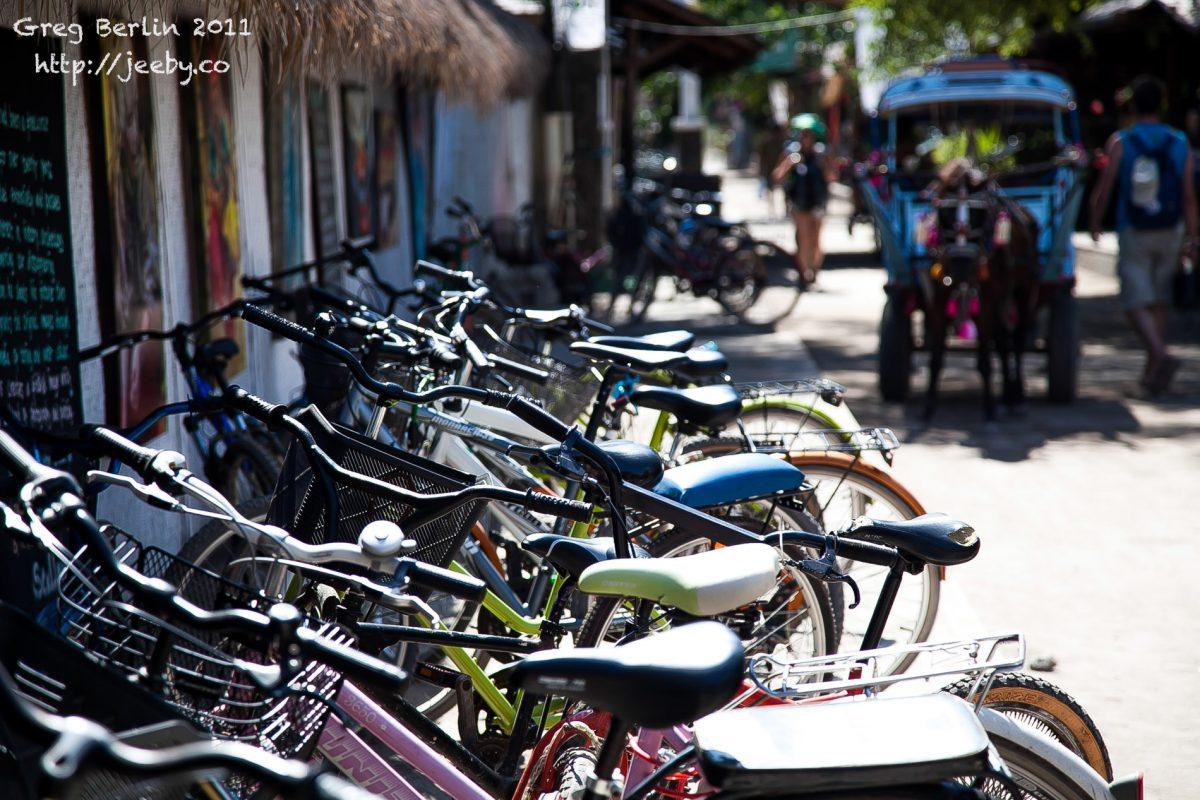 Bikes on Gili Trawangan, Lombok, Indonesia