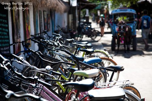 Bikes on Gili Trawangan, Lombok, Indonesia