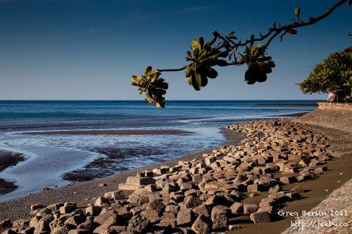Beautiful beach scene in northern Bali, Indonesia