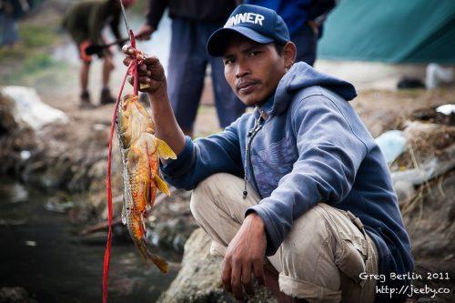 Fisherman at Gunung Rinjani, Lombok, Indonesia