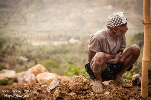Foreman at the gold mine, Lombok, Indonesia