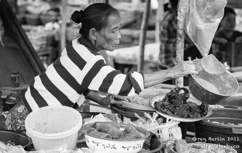 Market lady, Sekotong Barat, Lombok, Indonesia