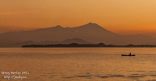 Sunrise over Gunung Rinjani, Lombok, Indonesia
