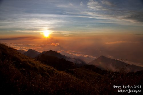 Sunset from Gunung Rinjani, Lombok, Indonesia