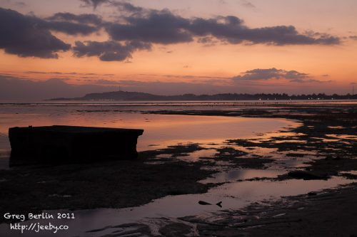 Sunset on the west side of Gili Air, Lombok, Indonesia
