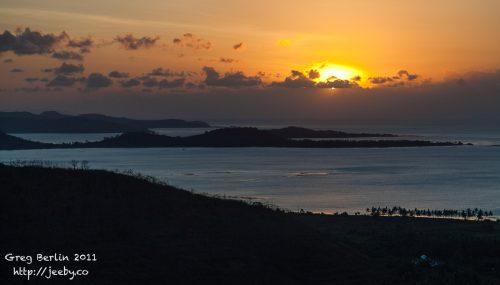 Sunset over the Southern Gilis, Sekotong, Lombok