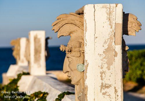 Maya Statues at Punta Sur, Isla Mujeres, Mexico