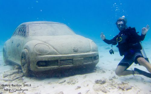 Selfie @ Musa Underwater Park near Isla Mujeres, Mexico