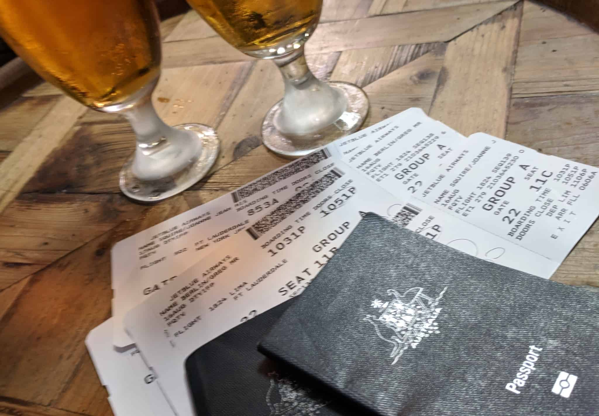 Beers and boarding pass