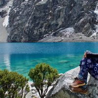 Joey On Her Stone Couch At Laguna 69 – Version 3